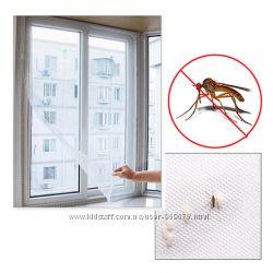 Москитная сетка на  окно 1, 5 х 1, 5м с крепёжной лентой на липучке 1, 3 х1