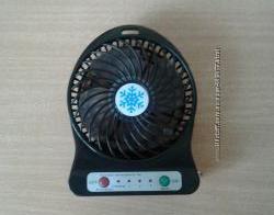 Портативный аккумуляторный ручной мини вентилятор в дорогу с USB, юсб