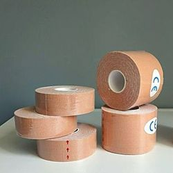Кинезио тейп Kinesio Tape 2,5см х 5 м, 5см х 5 м