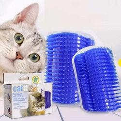 Угловая чесалка массажер для кошек с кошачьей мятой, фурминатор