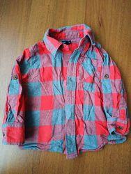 Рубашки дитячі 2шт Gap i HM, на вік 18-24 міс, 92-98см