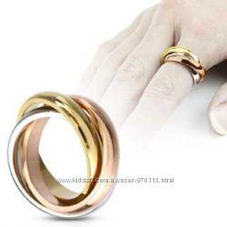 bf31c057b20b Роскошные обручальные кольца Картье Trinity Cartier золото 585 пробы, новые