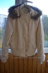 Утеплённая качественная куртка ткань парка Miss Selfridge, размер евро 40
