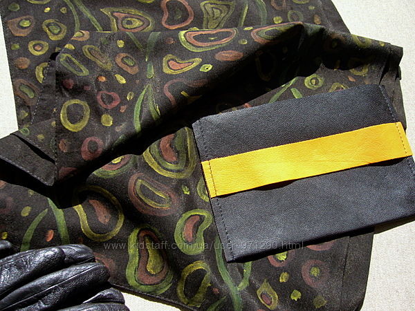 Мужской шарф, натуральный шелк, ручная работа, подарочный набор