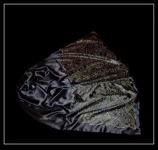 Роскошный палантин из натурального шелка с росписью.