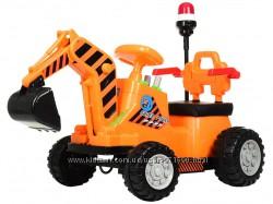 Трактор толокар мотор 25W электромобиль свет, музыка