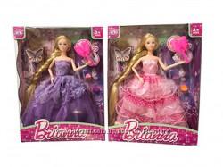 Шарнирная кукла с длинными волосами и платьем принцессы