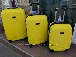 Качество Чемодан большой желтый Пластиковый чемодан доставка бесплатно