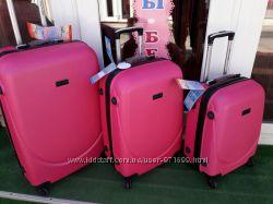 Супер цена Чемодан большой малиновый розовый Валіза рожева велика