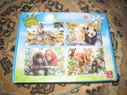 Пазлы Кинг Мир животных 4 в 1 для малышей красочные качественные