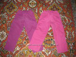 Брюки теплые на флисе для девочки можно для двойни 98-110