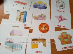 Карточки на английском языке мебель