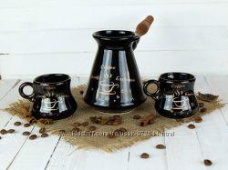 Набір для кави турка з чашками, турка та чашки