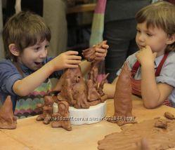 Глина для скульптурной лепки 3кг, детского творчества, гончарная