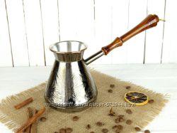 Медная турка, металлическая турка 600мл кофеварка, джезва Верность