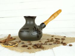 Турка Иероглиф 260мл с деревянной ручкой