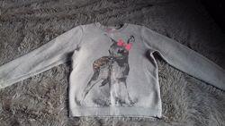 Реглан свитер толстовка худи кофта H&M для девочки 8-10 134-140