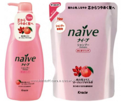 Шампунь и бальзам Kanebo Naive с экстрактом персика и маслом шиповника