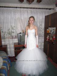 Продам белое свадебное платье Рыбка р. 42-44
