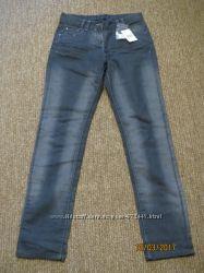 джинсы серые с потертостями