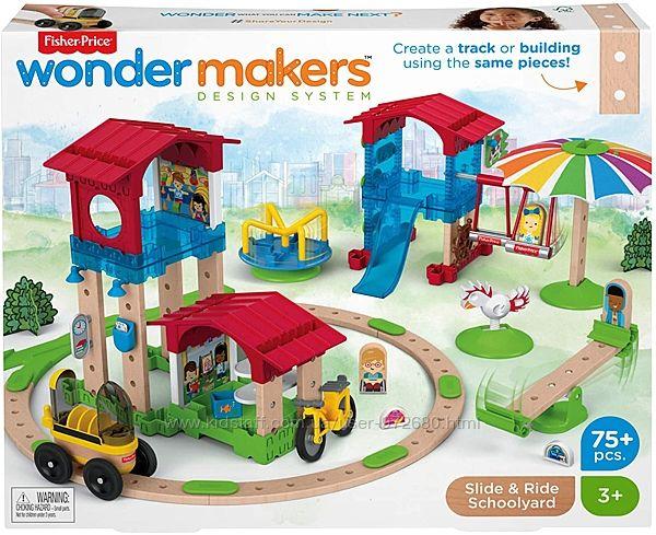 Конструктор Фишер Прайс Fisher-Price Wonder Makers Slide Ride Schoolyard 75
