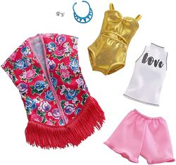 Барби одежда Barbie Clothes 2 Outfits Doll Include A Golden Swimsuit