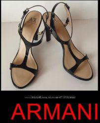 ARMANI Черные классические босоножки р 39-40 оригинал