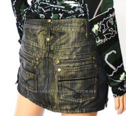 PATRIZIA PEPE джинсовая навороченная юбка р 42 оригинал