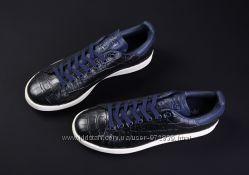 ADIDAS Синие кроссовки натуральная кожа Croc р 41 -41, 5 оригинал Унисекс