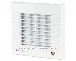 Бытовой вентилятор Вентс серии МА 100, 125, 150 с автоматическими жалюзи
