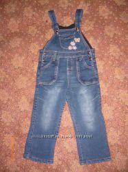 Утепленный джинсовый комбенизончик