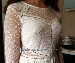 кружевное платье H&M, размер М, скидка
