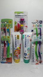 Детская зубная паста Донтодент элкос и Детские зубные щетки Dentalux