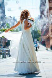 Продам свадебное-вечернее платье айвори