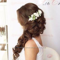 Свадебные украшения, цветы в волосы, бутоньерки