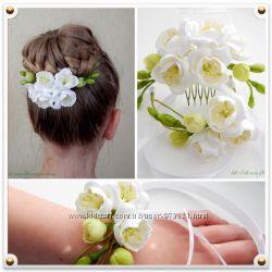Цветы на праздник, обручи. ,украшенибутоньерки на свадьбу, випуск . Шпильки