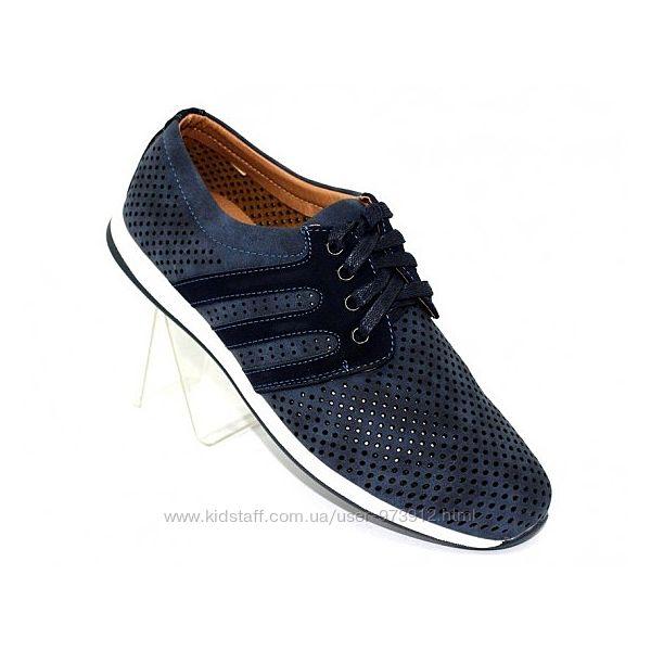 Мужские туфли перфорация