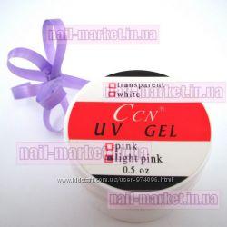 Гель для наращивания ногтей CCN прозрачно-розовый light-pink UV Gel CCN