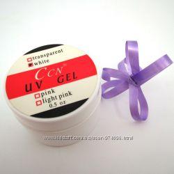 Гель для наращивания ногтей CCN белый white UV gel