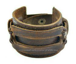 Мужской стильный браслет из натуральной кожи