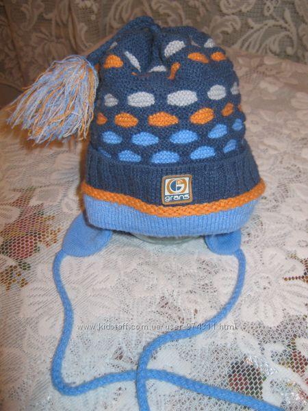 шапка вязаная для мальчика на 2-4года, р. 46-48, Польша, б. у.