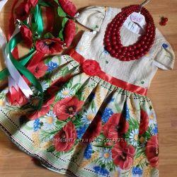 Платье для девочки маки