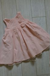 Нежное нарядное персиковое платье на 2-3годика