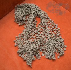 Вязаный фантазийный шарф