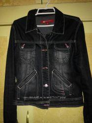 куртка джинс темно  цвета