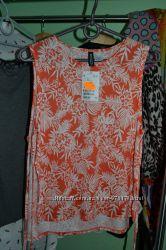 Новая трикотажная  майка оранжевого цвета, H&M размер XS.