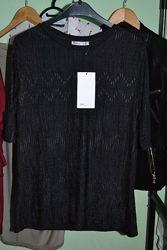 Блузка футболка чёрного цвета, Zara , р. L небольшая M, S