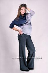 Брюки для беременных плотная ткань р. 42