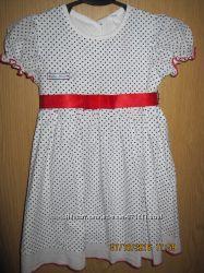 Продам нарядное лёгкое летнее платье на девочку 2-3 года, 100 хлопок