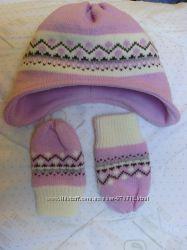 комплект шапочка с варежками Lupilu